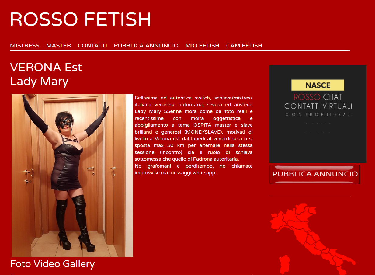 VERONA Est Lady Mary – Rosso Fetish
